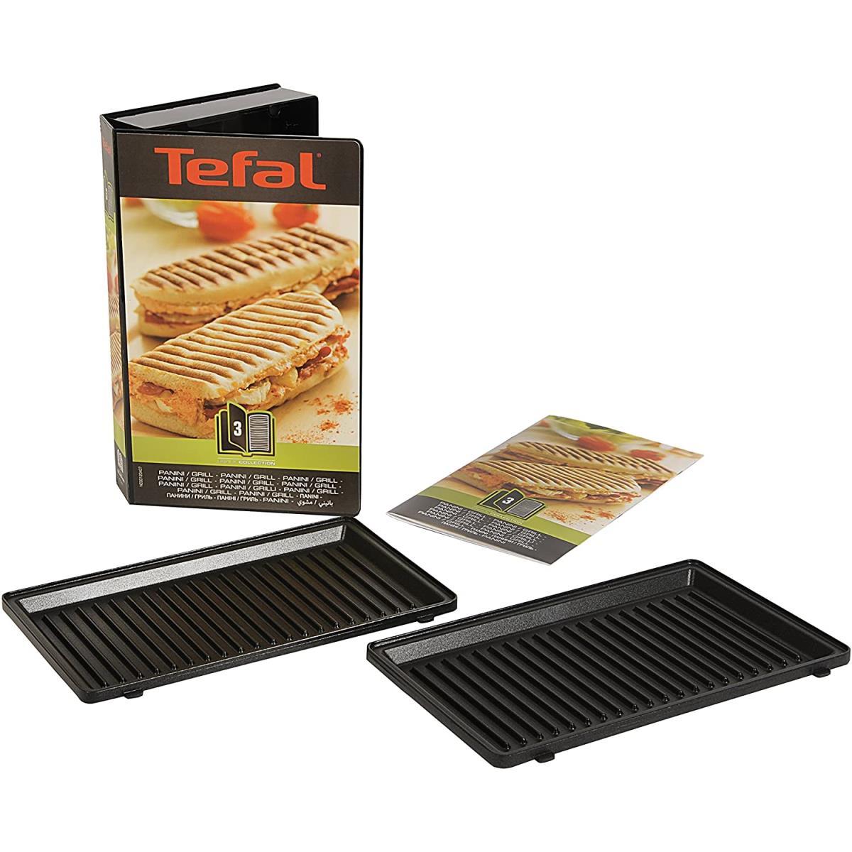Tefal XA800312 Snack Collection Platte Grill Panini Nummer 3 für Waffeleisen,Tefal ,XA800312, 3045386366163