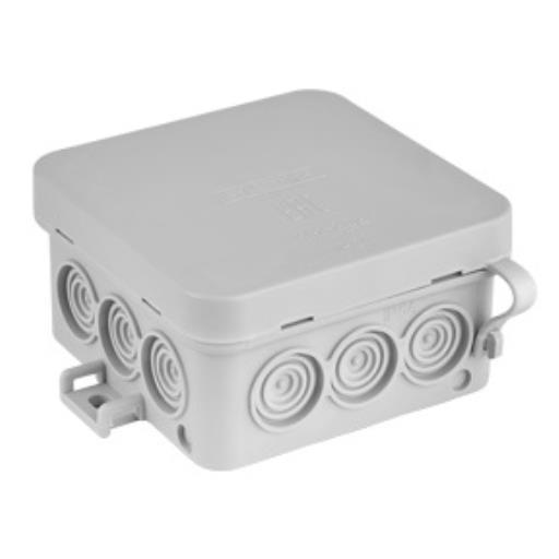 Aufputz Klein Verteilerdose 80x80 Installationsgehäuse Kabel Abzweigkasten IP54,Bylectrica,KM-292, 4810158068786