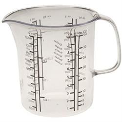 Messbecher 1 L. Messkanne Dosierhilfe Messbehälter für Zucker Mehl Wasser Milch