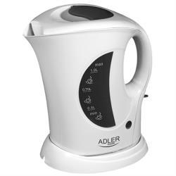 Adler Wasserkocher 1 Liter Kunstoff Kettle Teekocher Wasserkessel 900 W