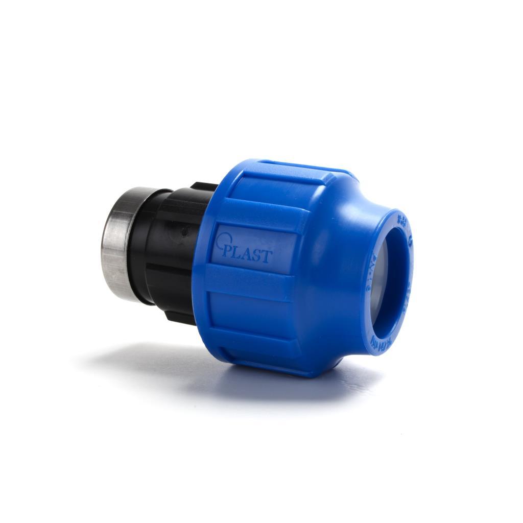 """PP Klemmfitting Rohr Verschraubung Trinkwasser DVGW Kupplung Ø32 x IG 3/4"""",STP,703031, 8435006800248"""