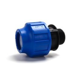 "PP Klemmfitting Rohr Verschraubung Trinkwasser DVGW Kupplung Ø32 x AG 1"""