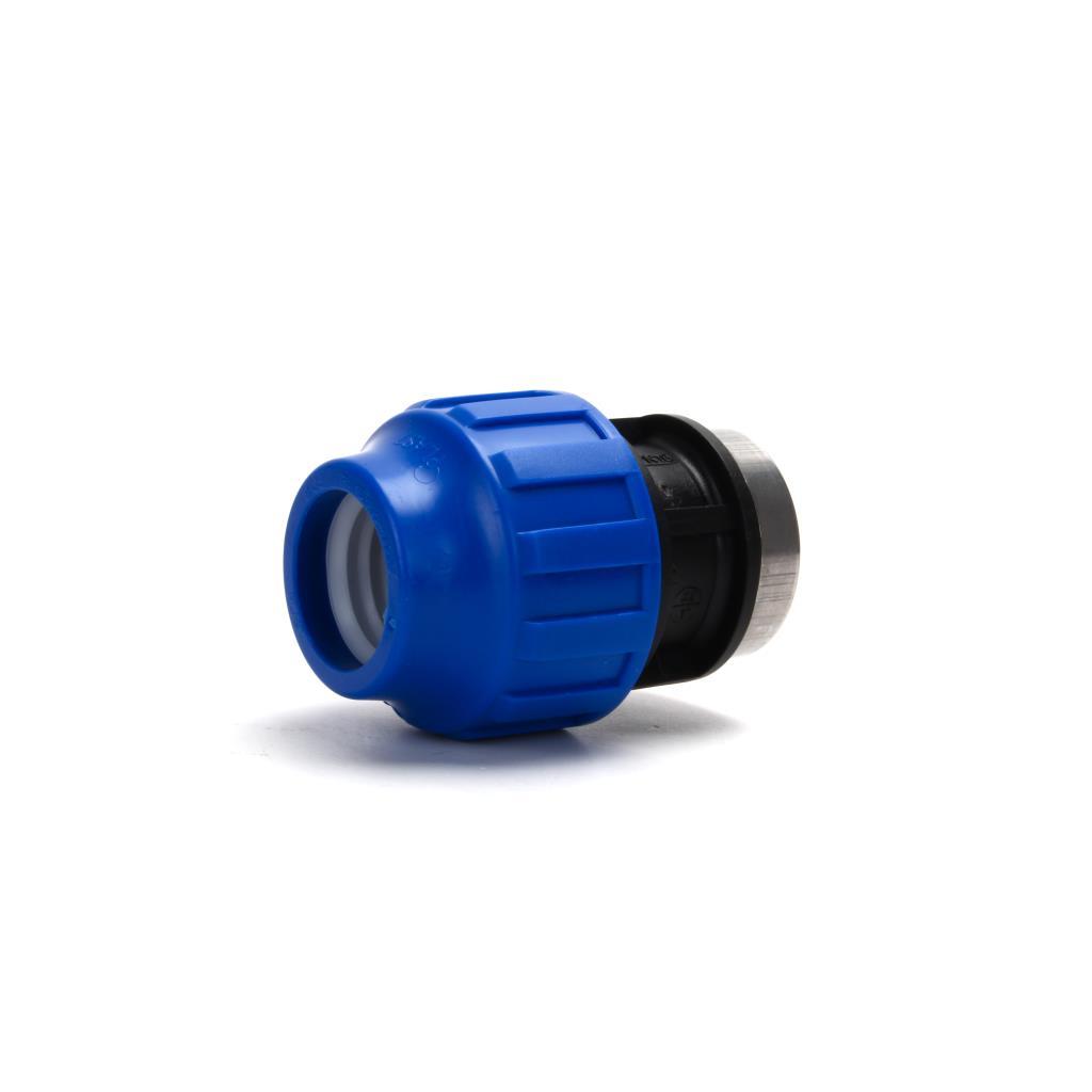 """PP Klemmfitting Rohr Verschraubung Trinkwasser DVGW Kupplung Ø32 x IG 1"""",STP,703032, 8435006800255"""