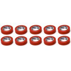 10x Elektriker Klebeband Isolierband Isoband - Rot 15mm x 10m,OKKO,IZORED, 4772013050766