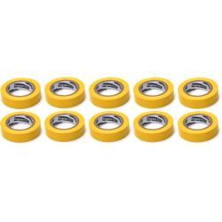 10x Elektriker Klebeband Isolierband Isoband - Gelb 15mm x 10m,OKKO,IZOYELLOW, 4772013050711
