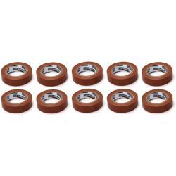 10x Elektriker Klebeband Isolierband Isoband - Braun 15mm x 10m
