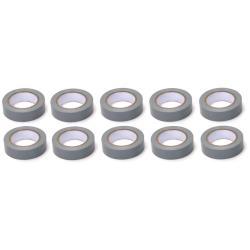 10x Elektriker Klebeband Isolierband Isoband - Grau 15mm x 10m,OKKO,IZOGREY, 4772013050759