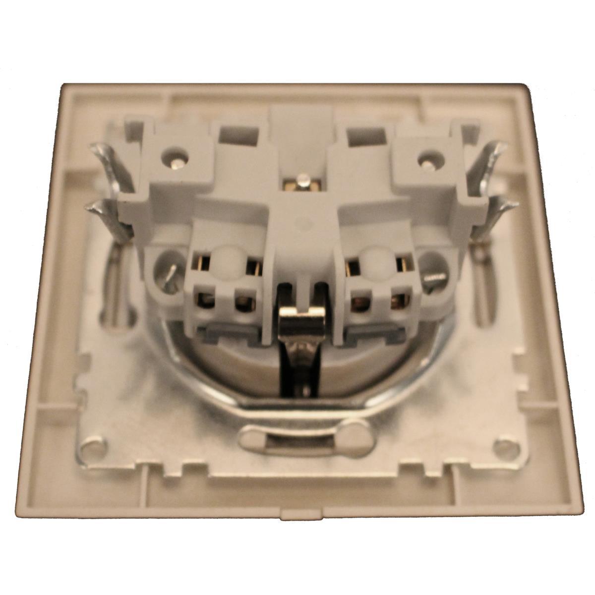 Steckdose mit Schutzkontakt Farbe champagner/silber IP20 16 A, 230 V,OKKO,9209-42-C, 4772013048688