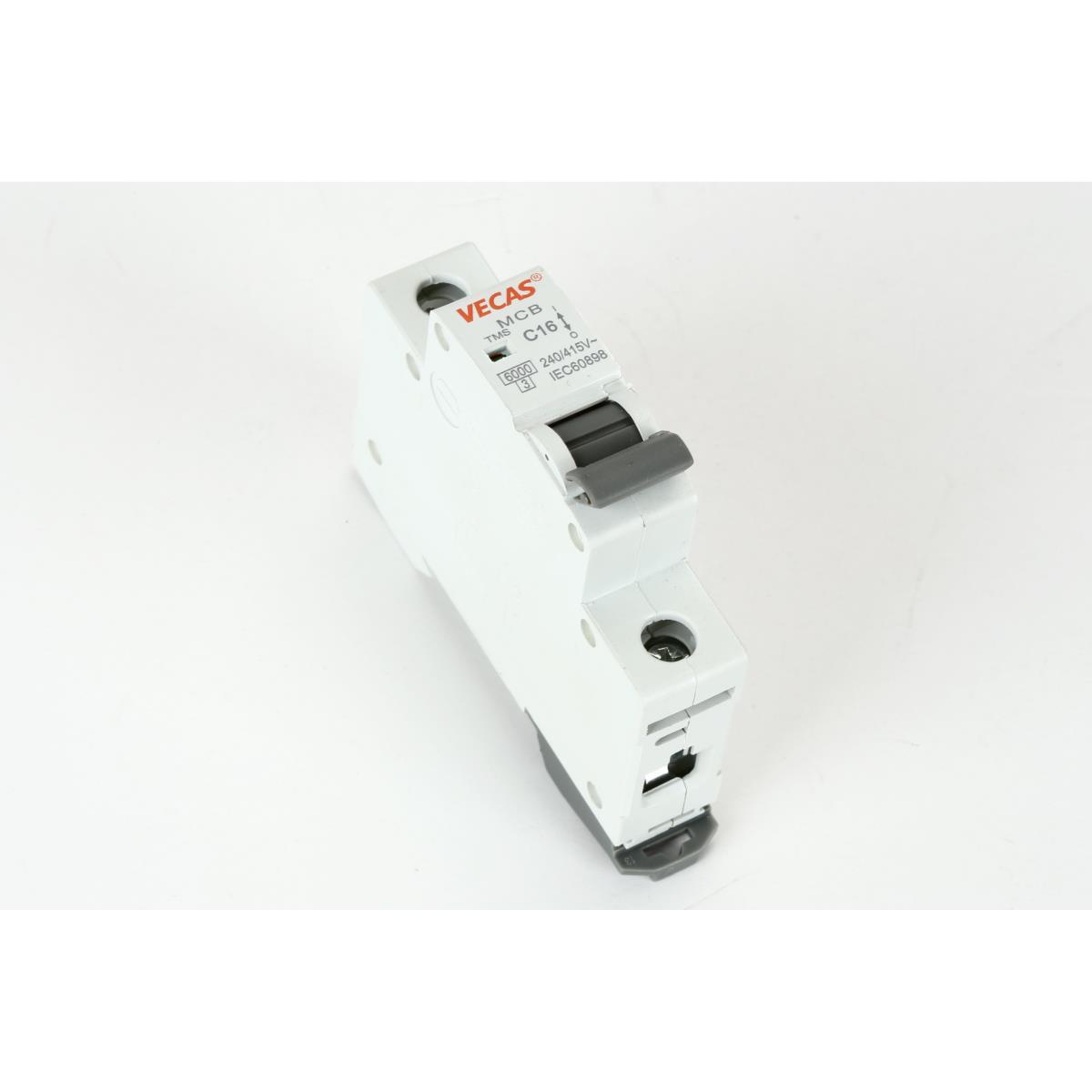 Leitungsschutzschalter Sicherungsautomat  B, 1-polig, 10A LS-Schalter,Vecas,L7-10-1-B, 4770364101489