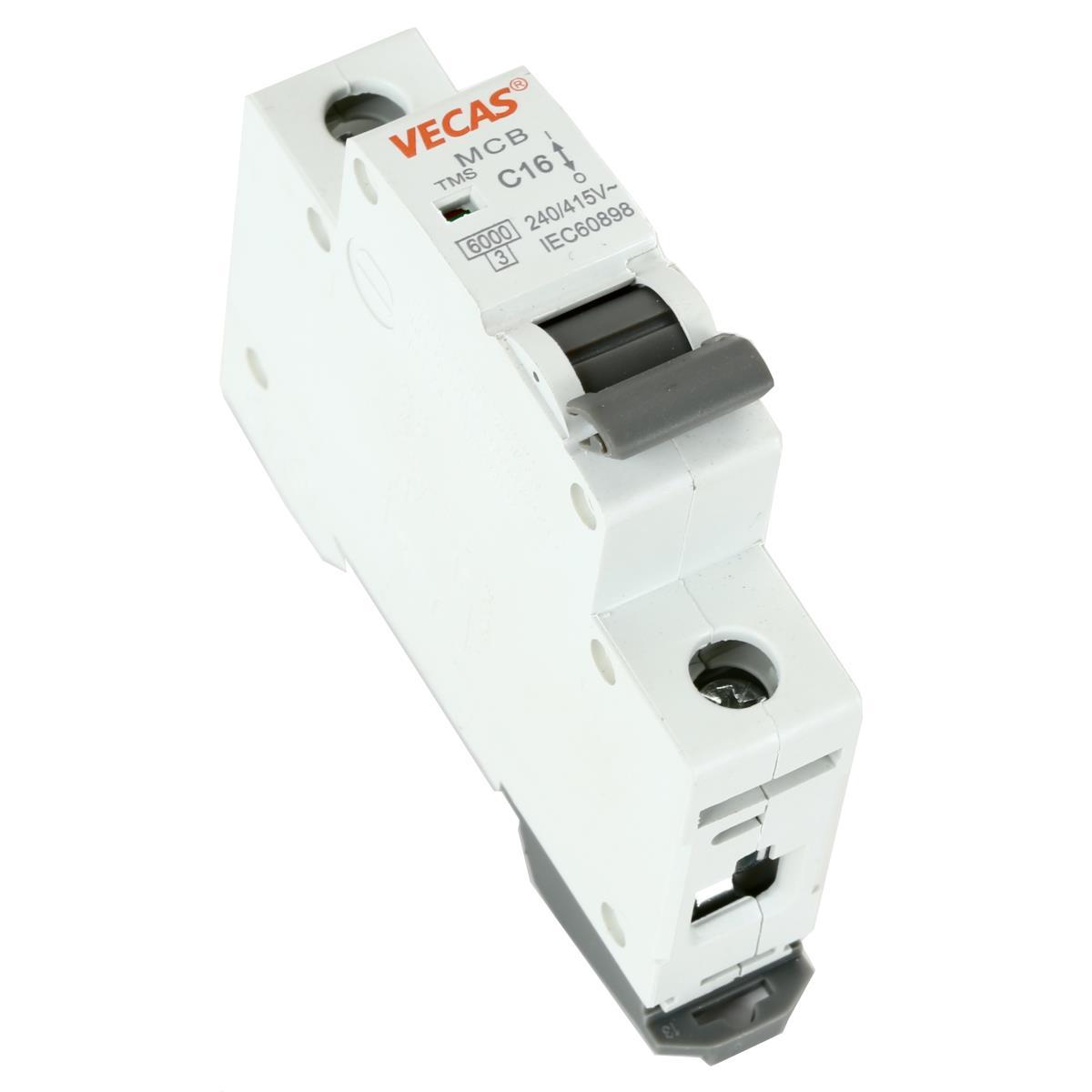 Leitungsschutzschalter Sicherungsautomat  C, 1-polig, 16A LS-Schalter,Vecas,L7-16-1-C, 4770364101403