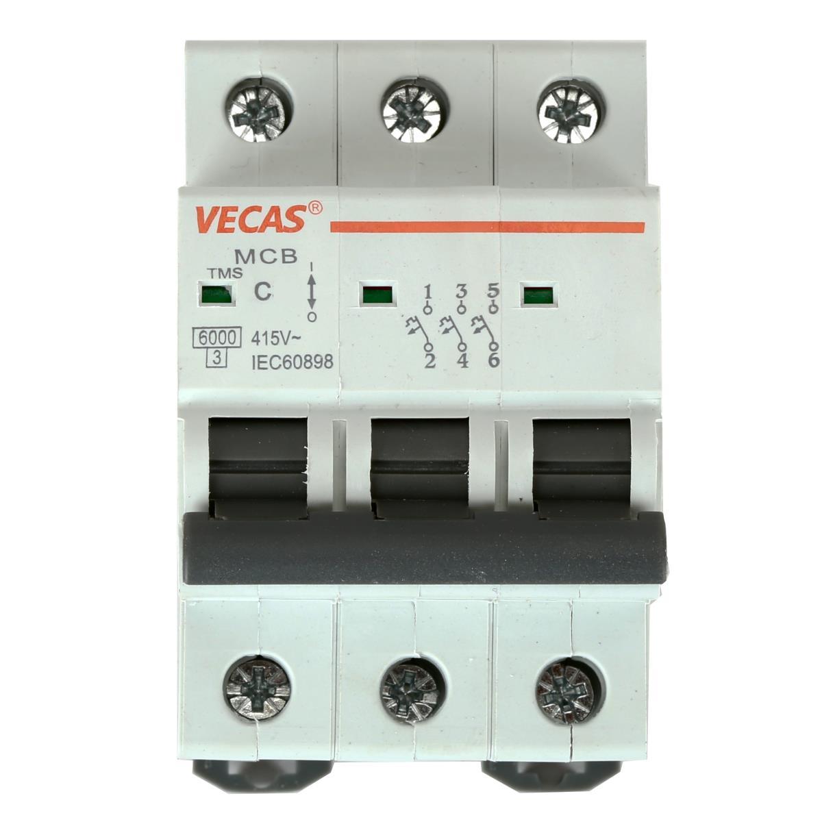 Leitungsschutzschalter Sicherungsautomat  C, 3-polig, 25A LS-Schalter,Vecas,L7-25-3-C, 4770364101236