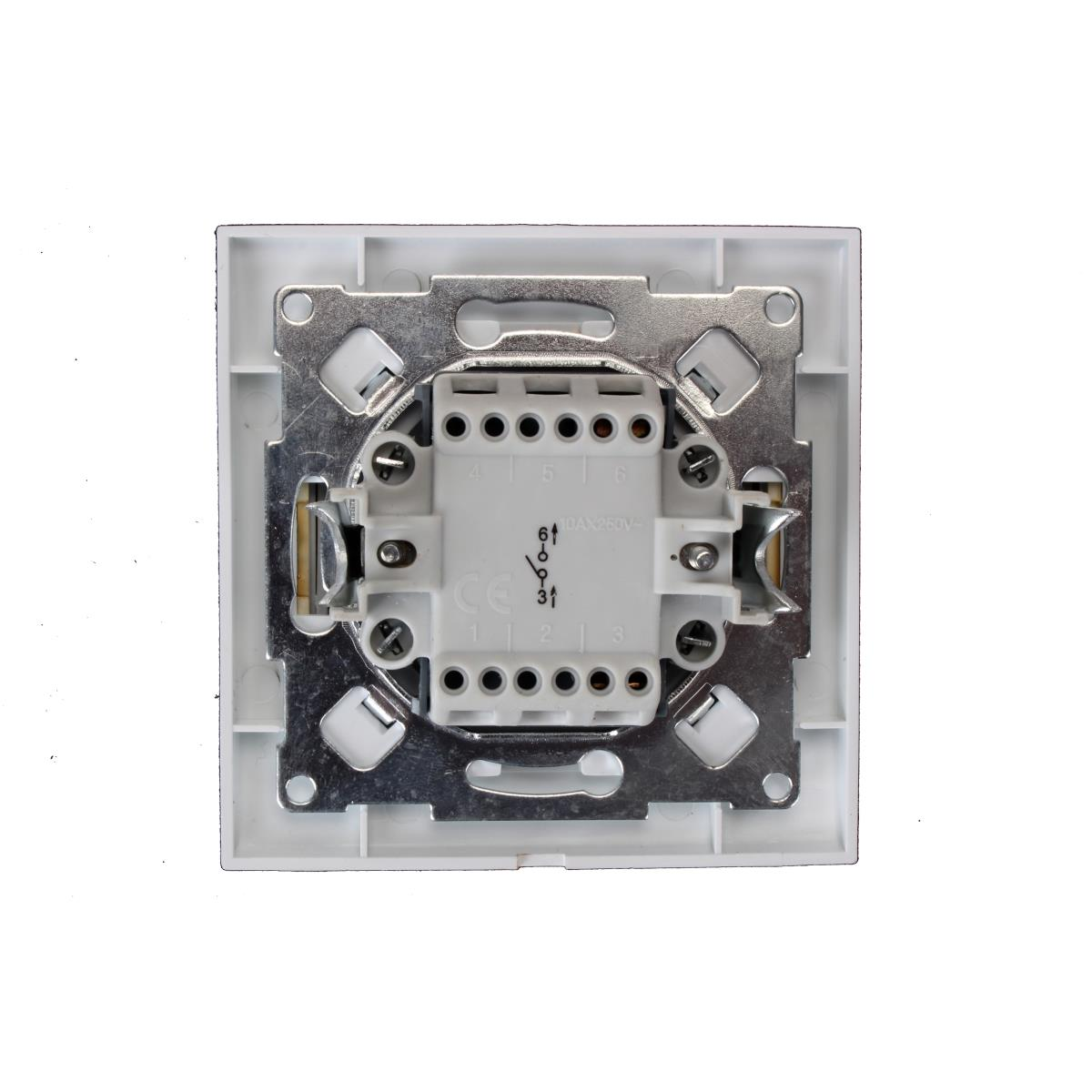 Unterputz Lichtschalter Ausschalter Farbe weiß/gold 10 A, 230 V,OKKO,9209-01-G, 4772013048510