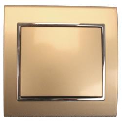 Unterputz Lichtschalter Ausschalter Farbe champagner/silber 10A, 230 V,OKKO,9209-01-C, 4772013048534