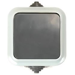 Aufputz Lichtschalter Feuchtraum Garten Schalter IP54 Grau serie OKKO,OKKO,A1 6-222 03, 4810158059692