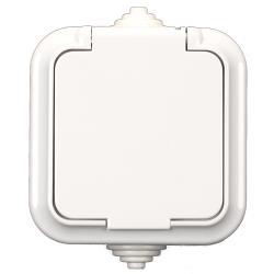 Aufputz AP Schuko Steckdose Feuchtraum Garten IP54 weiß serie VIKA,Vagner SDH,PA16-296, 4810158009444