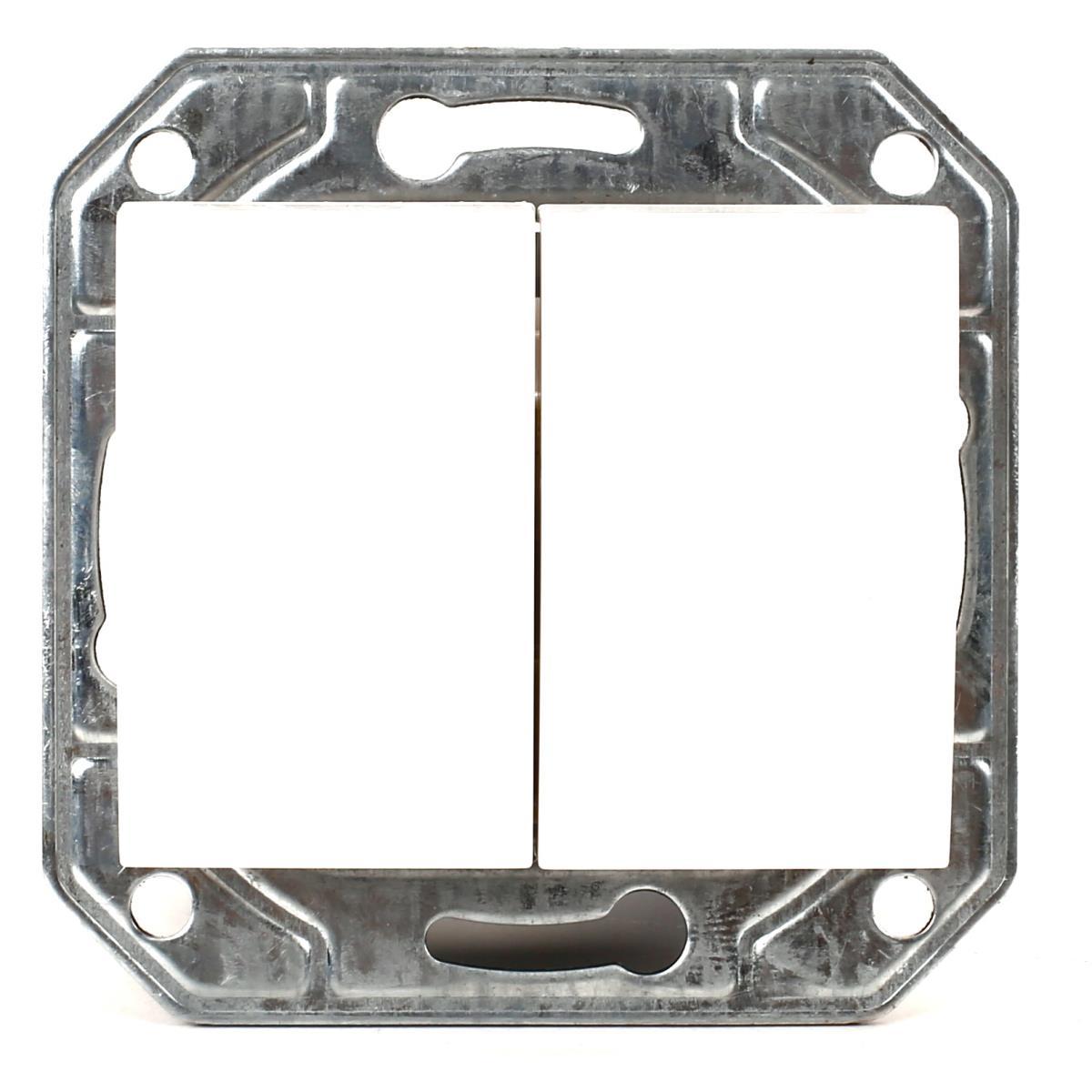 Doppel zweifach Lichtschalter Serienschalter Unterputz weiß Serie TAILI,Vagner SDH,TL1104, 4770364043888