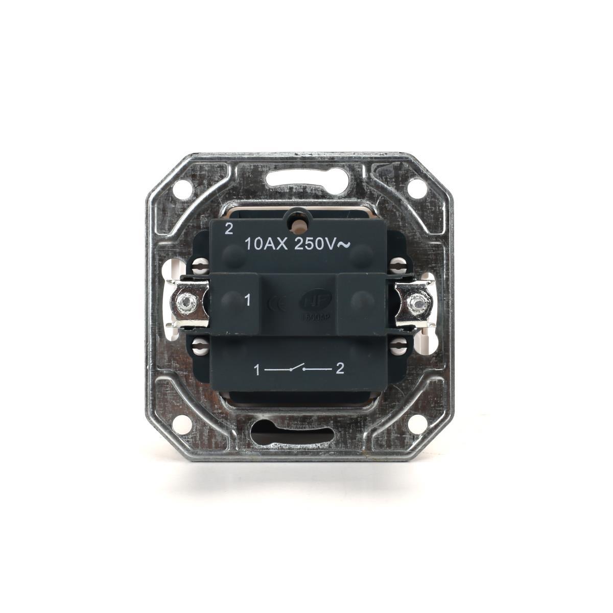 Lichtschalter Unterputz 10 A, 230 V weiß Serie TAILI,Vagner SDH,TL1101, 4770364106781