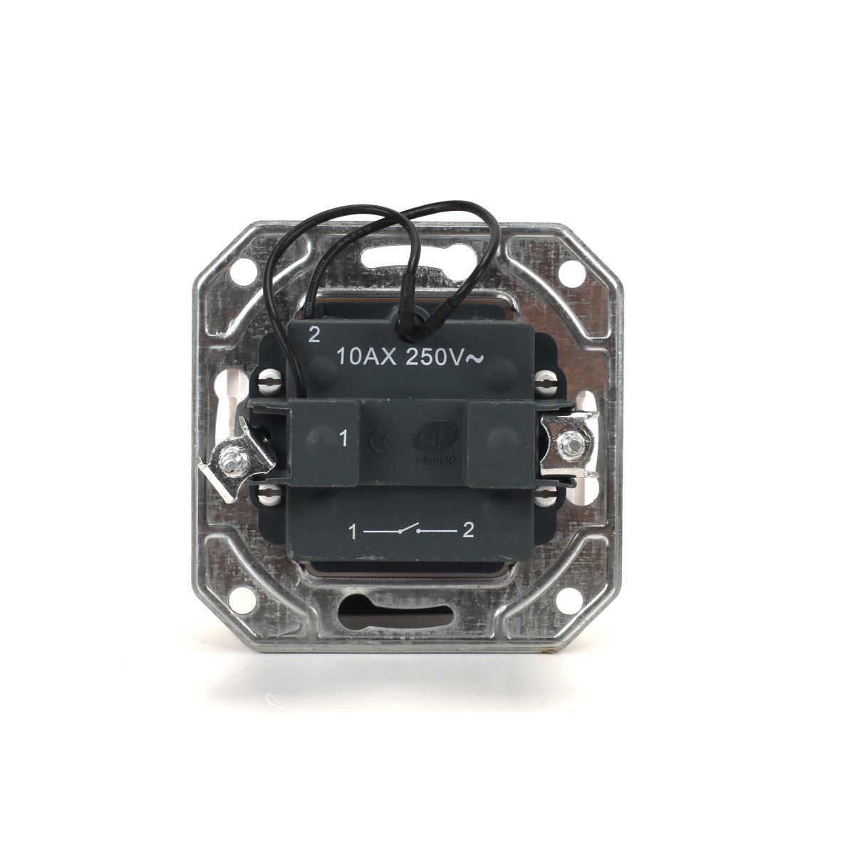 Lichtschalter Unterputz mit Kontrolleuchte 10 A, 230 V weiß Serie TAILI,Vagner SDH,TL1101B, 4770364104329