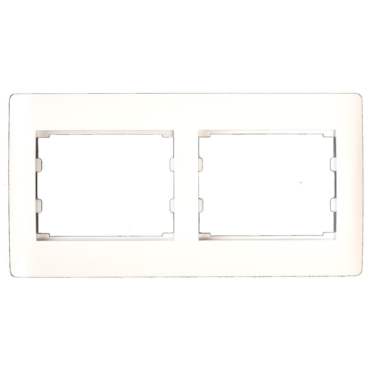 Doppel zweifach Rahmen Steckdose Schalter Lichtschalter weiß Serie TAILI