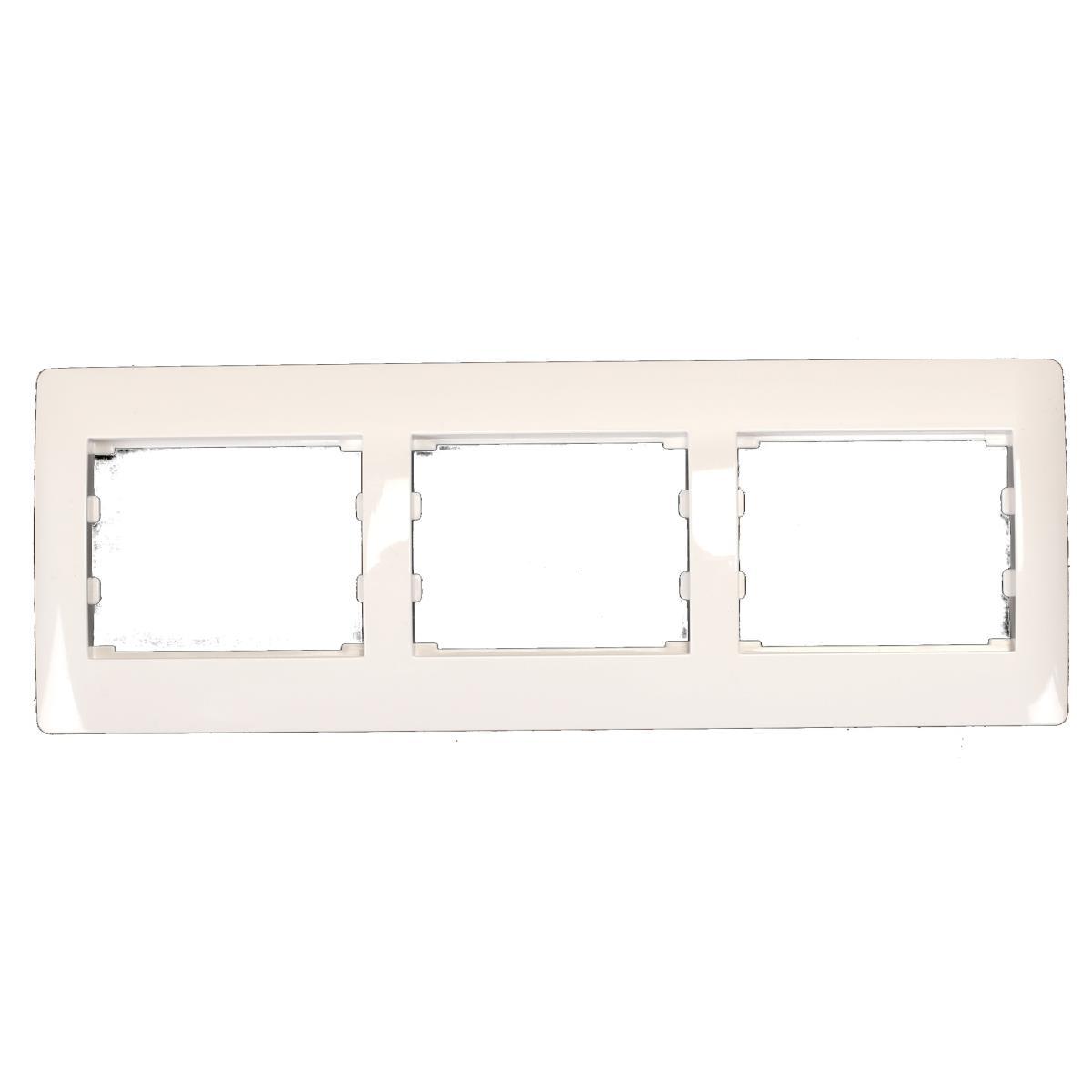 Dreifach 3-fach Rahmen Steckdose Schalter Lichtschalter weiß Serie TAILI,Vagner SDH,TL1145, 4770364202858