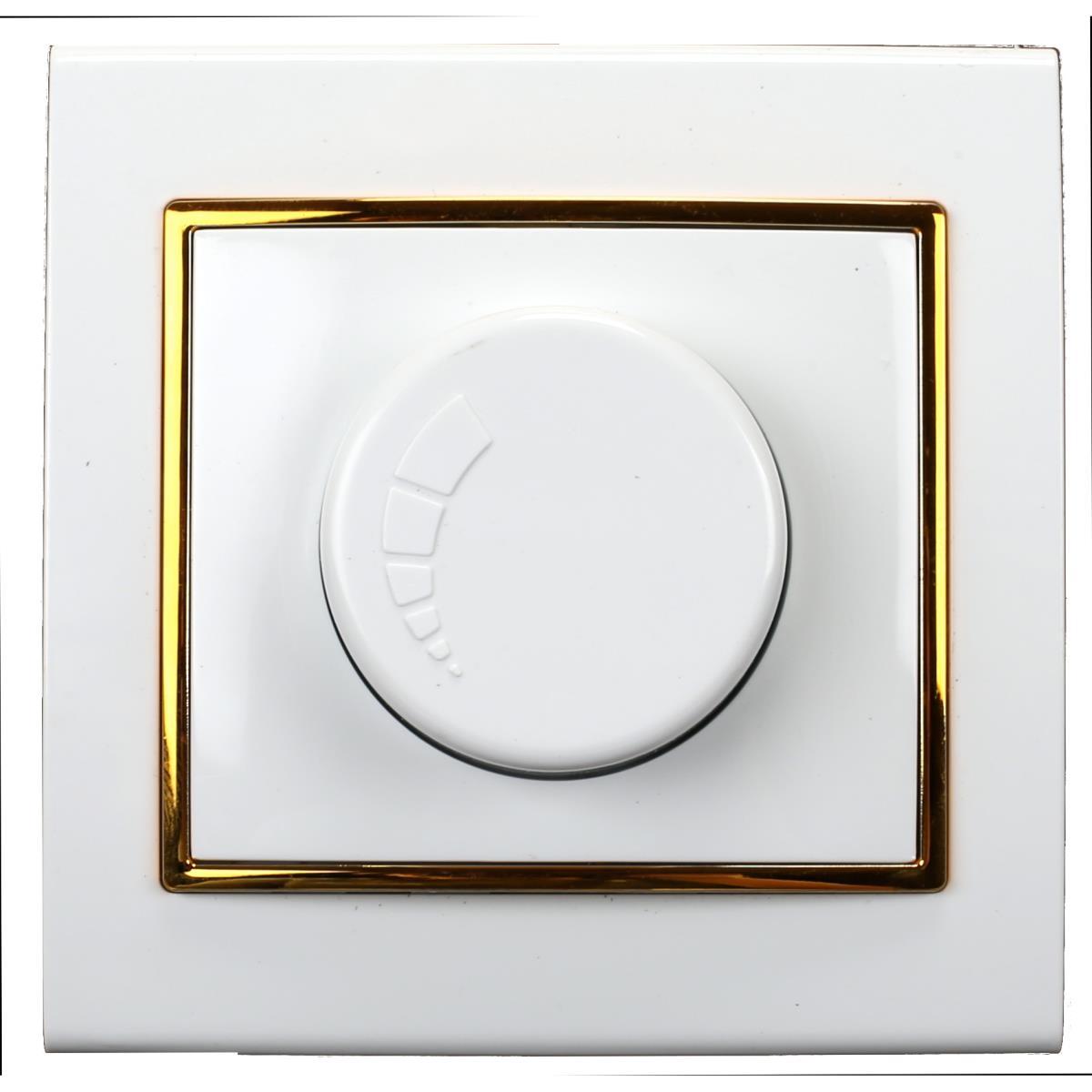 Dimmer Drehdimmer Helligkeitsregler Unterputz 400 W 230 V Farbe weiß/gold,OKKO,9209-71-G, 4772013048466