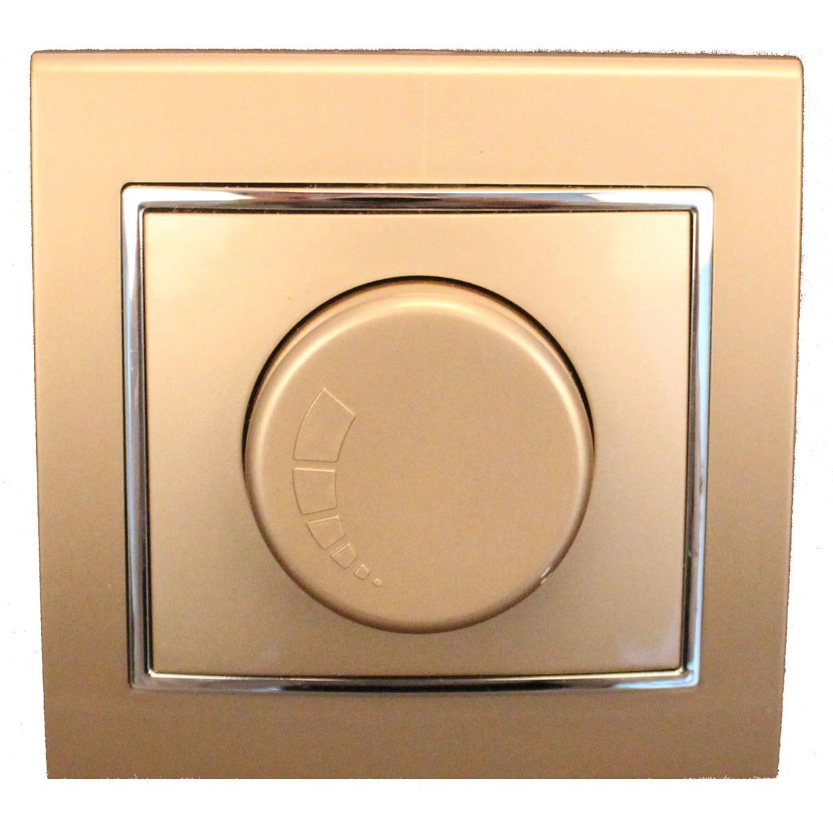 Dimmer Drehdimmer Helligkeitsregler Unterputz 400 W 250 V champagner/silber,OKKO,9209-71-C, 4772013048473