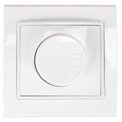 Dimmer Drehdimmer Helligkeitsregler Unterputz 400 W 230 V weiß