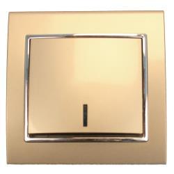 Unterputz Lichtschalter beleuchtet champagner/silber 10 A, 250 V,OKKO,9209-01N-C, 4772013048589