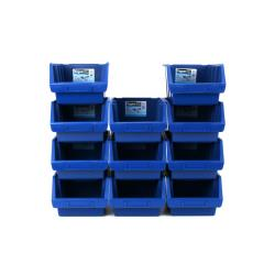 11 x Sichtlagerbox Lagerbox Stapelbox Sichtbox Lagerkasten Größe 3 blau