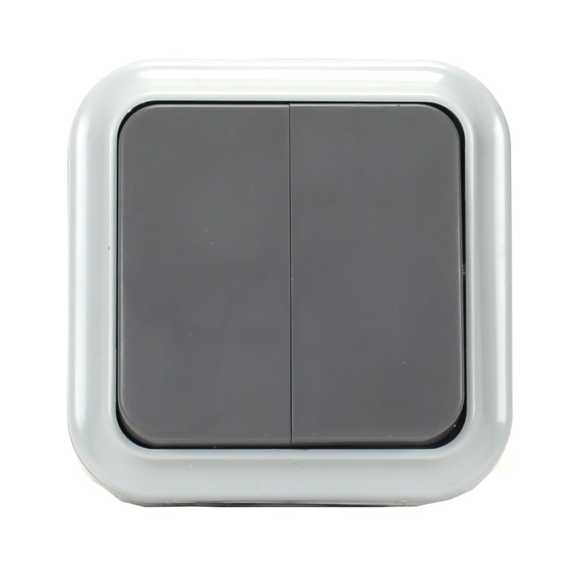 Aufputz Serienschalter Lichtschalter Feuchtraum Garten IP54 grau serie OKKO,OKKO,A5 6-224-03, 4810158059784