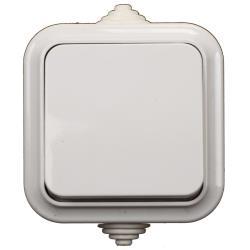 Aufputz AP Lichtschalter Feuchtraum Garten Schalter IP54 weiß serie VIKA,Vagner SDH,A1 6-222, 4810158009468
