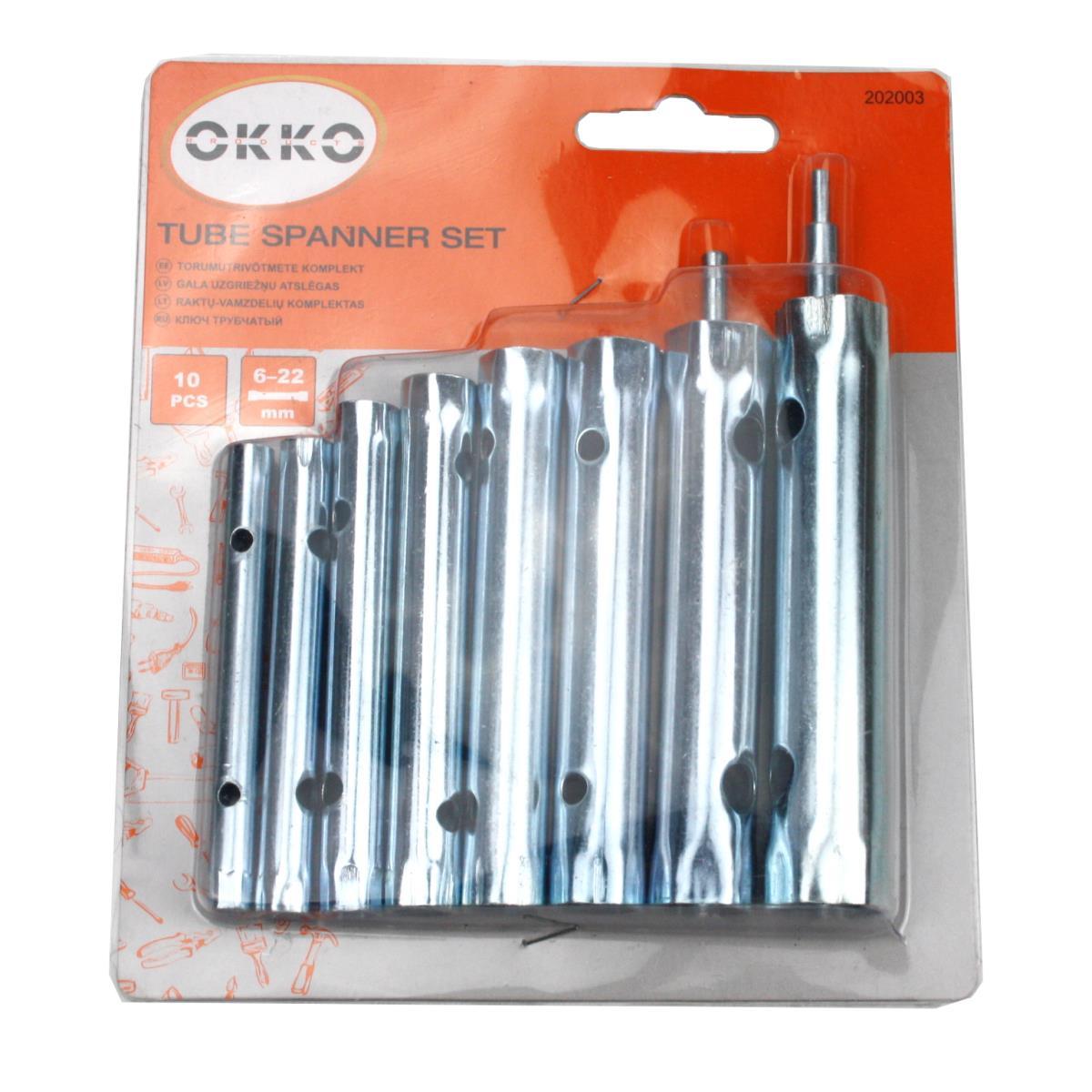 Rohr Steckschlüssel Satz 10-tlg. Rohrschlüssel Werkzeug Set 6-22 mm Schlüssel,Vagner SDH,202003, 6942713101534