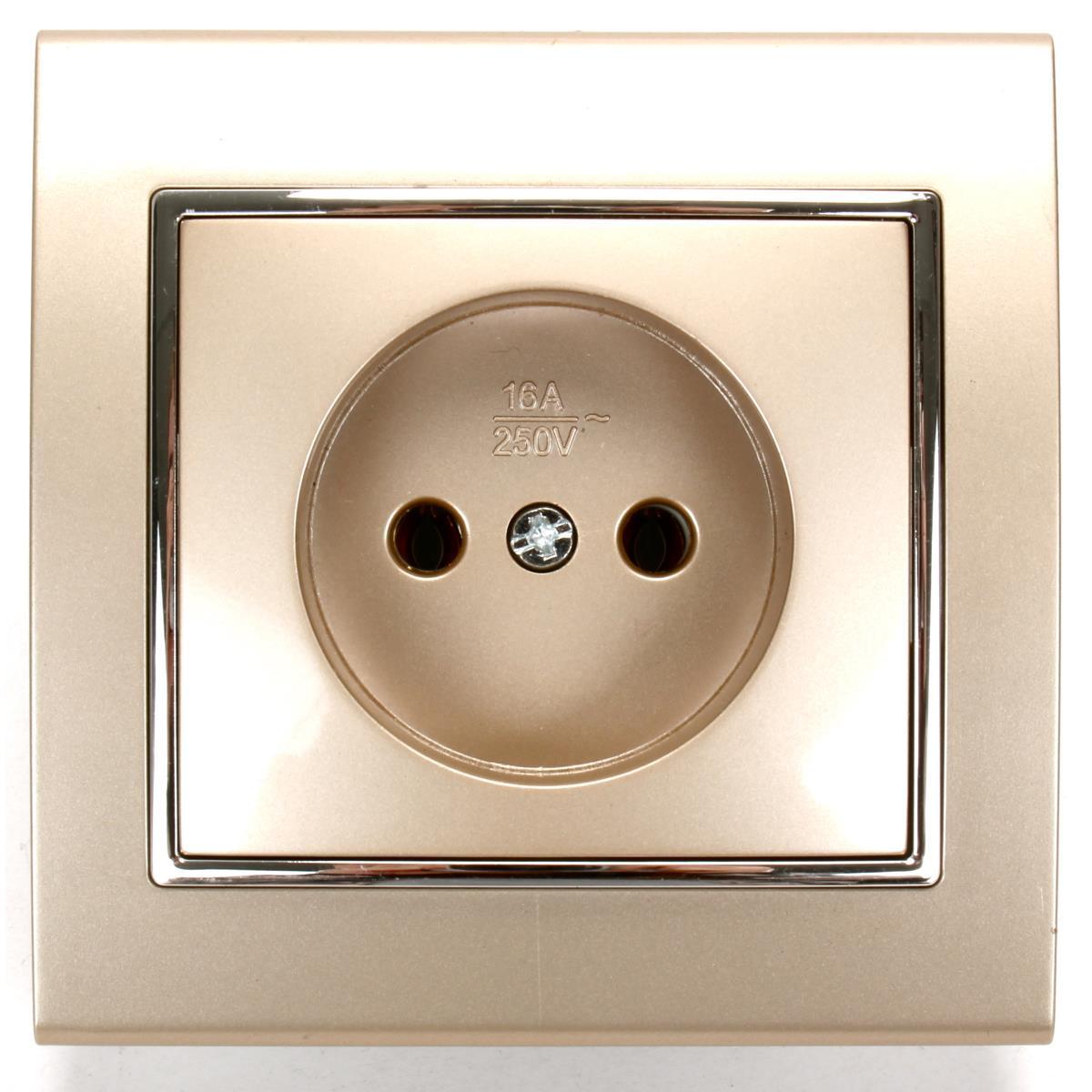 lichtschalter serienschalter dimmer steckdose farbe champagner silber ebay. Black Bedroom Furniture Sets. Home Design Ideas