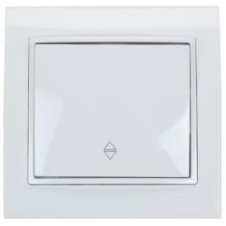 Unterputz Wechselschalter Farbe weiß 10 A, 230 V,OKKO,9209-31-W, 4772013048725