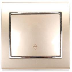 Unterputz Wechselschalter Farbe champagner/silber 10 A, 230 V,OKKO,9209-31-C, 4772013048749