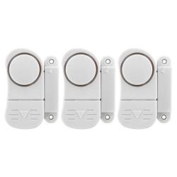 3x Fensteralarm und Türalarm, Sirene Alarmanlage Fenster Alarm Einbruchschutz