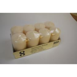 Gala Stumpen Stumpenkerze 8 Stück 11,5 cm  Farbe creme