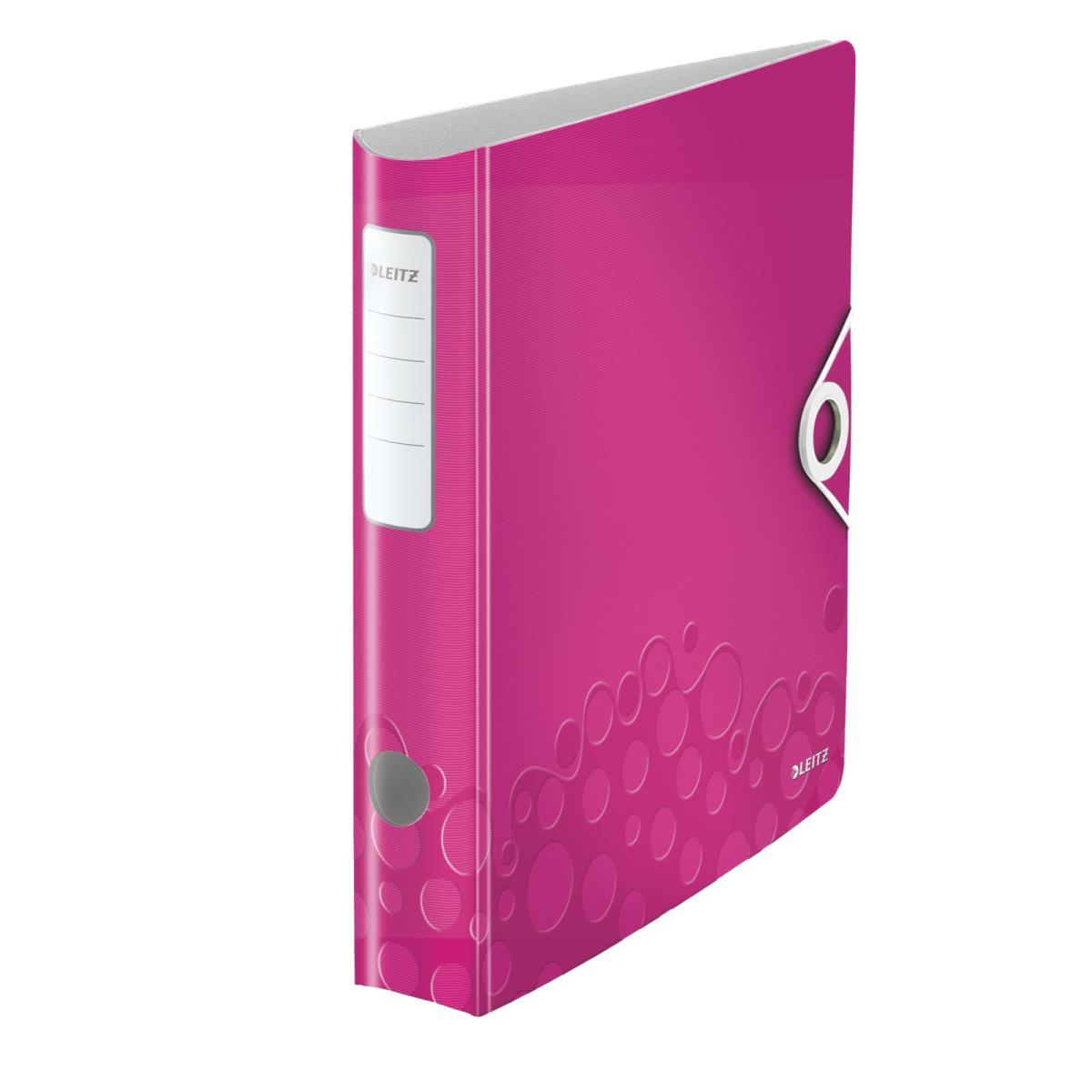 leitz multifunktions ordner a4 runder r cken pink 1 st ck. Black Bedroom Furniture Sets. Home Design Ideas