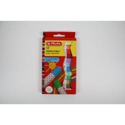 Herlitz Tafelkreide Kreide Schulkreide bunt farbig sotiert abwaschbar 12 Stück