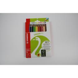 Stabilo FSC zertifizierte Dreikant Buntstifte Farbstifte GREENtrio 12 er
