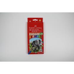 Faber Castell Jumbo Buntstifte 10 Stück dicke Stifte mit Spitzer