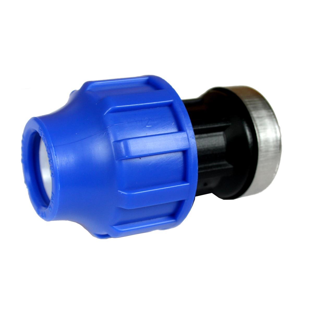 """PP Klemmfitting Rohr Verschraubung Trinkwasser DVGW Kupplung Ø20 x IG 3/4"""",STP,703022, 8435006800217"""