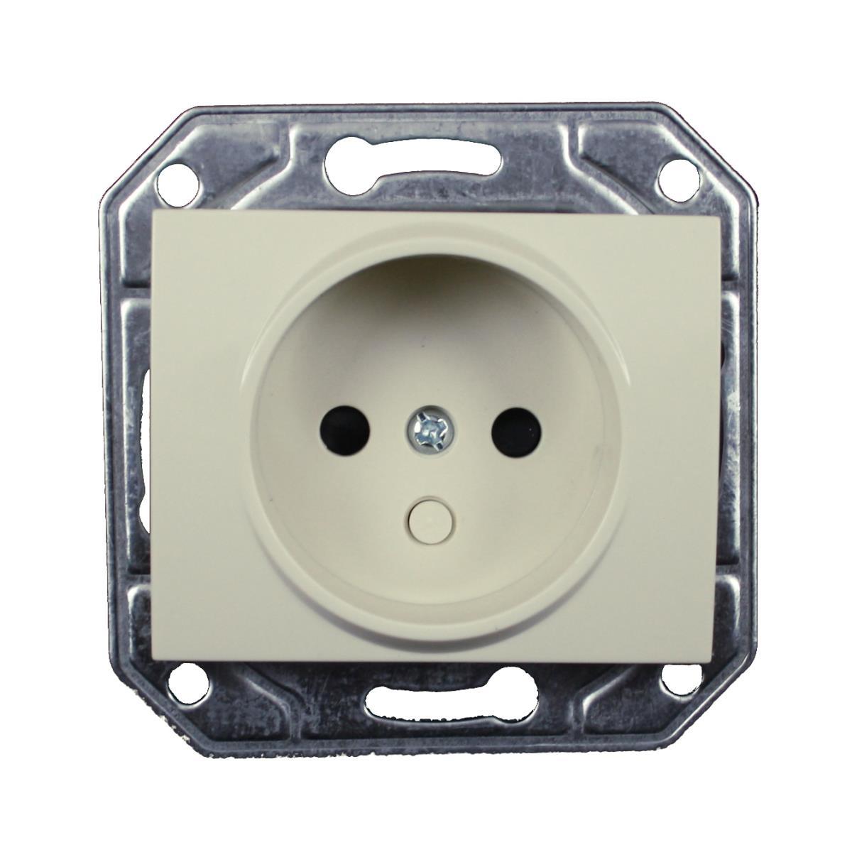 Unterputz Steckdose ohne Schutzkontakt 16 A, 230 V creme weiß Serie TAILI,Vagner SDH,TL1123CRM, 4770364044113