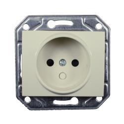 Unterputz Steckdose ohne Schutzkontakt 16 A, 230 V creme weiß Serie TAILI