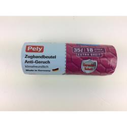 Pely Anti Geruch  Müllbeutel mit Zugband 35 L 18 Beutel  Müllsack Geruch Schutz
