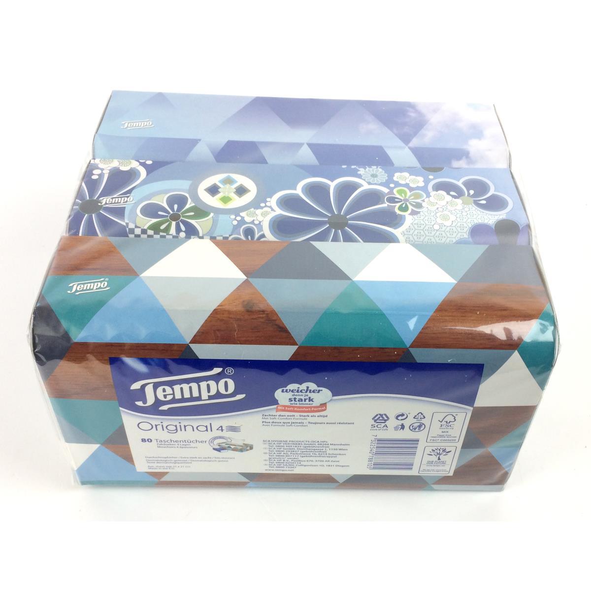 tempo taschent cher trio box 4 lagig kosmetikt cher 3 x 80 t cher. Black Bedroom Furniture Sets. Home Design Ideas