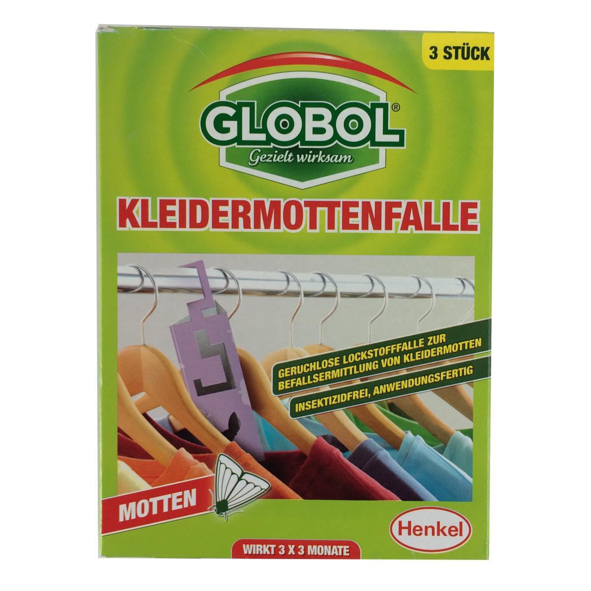 Globol Kleidermottenfalle, Mottenschutz, Mottenfänger, Klebefalle, 3 St.,Globol,5099831644427, 5099831644427