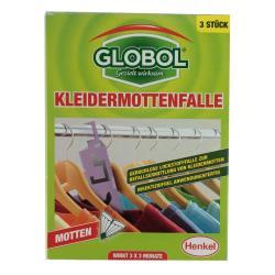 Globol Kleidermottenfalle, Mottenschutz, Mottenfänger, Klebefalle, 3 St.