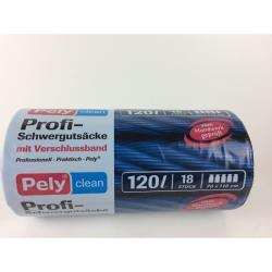 Pely Profi Schwergutsäcke mit Verschlussband Müllsack Sack 120 l
