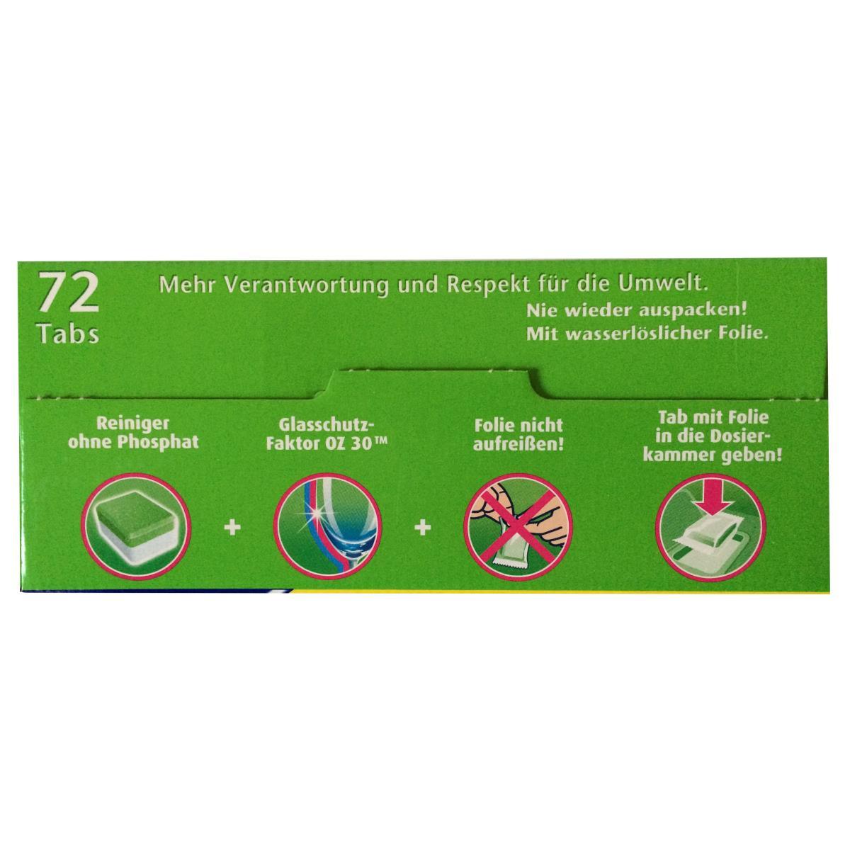FIT Grüne Kraft Classic 72 Tabs Spülmaschinentabs Geschirrspültabs,Fit,4013162016280, 4013162016280
